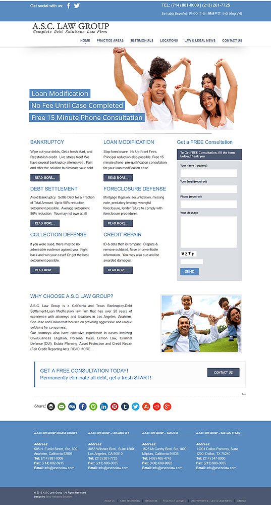 A.S.C Law Group - Easy Websites Solutions