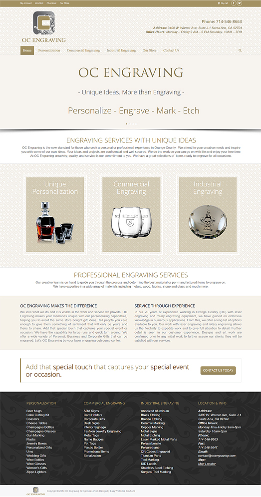 OC Engraving - Easy Websites Solutions