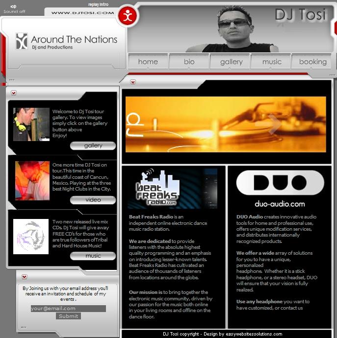 DJ Tosi - Easy Websites Solutions
