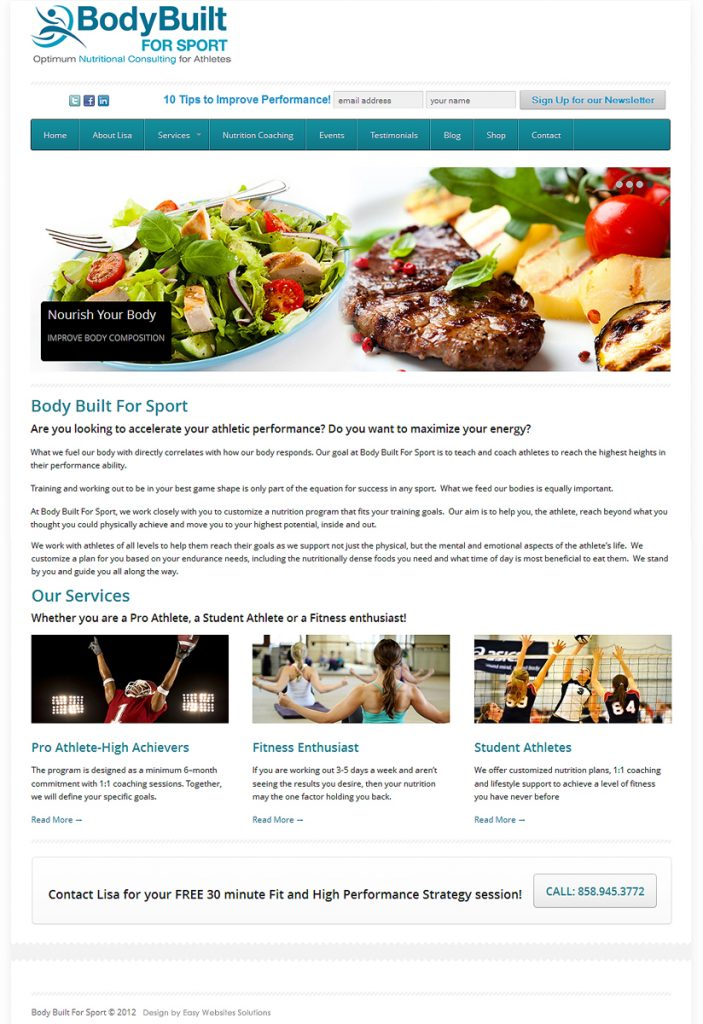 Body Built For Sport - Easy Websites Solutions
