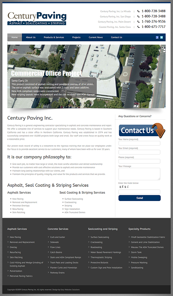 Century Paving Inc. - Easy Websites Solutions