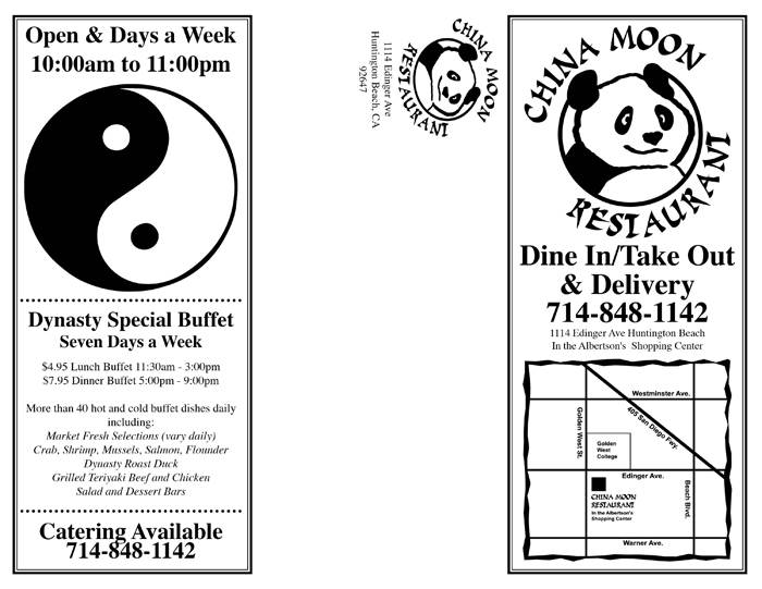 China Moon Menu - Easy Websites Solutions