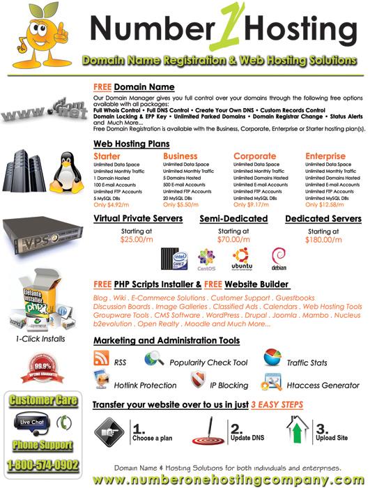 Number One Hosting - Easy Websites Solutions