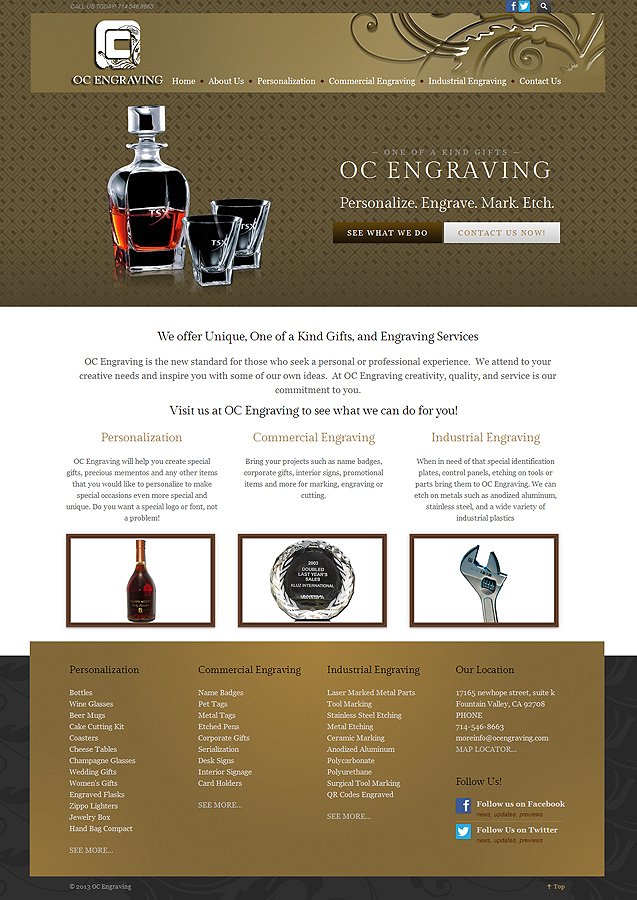 OC Engraving - Easy Websites Solutions