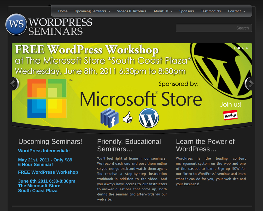 WordPress Seminars - Easy Websites Solutions