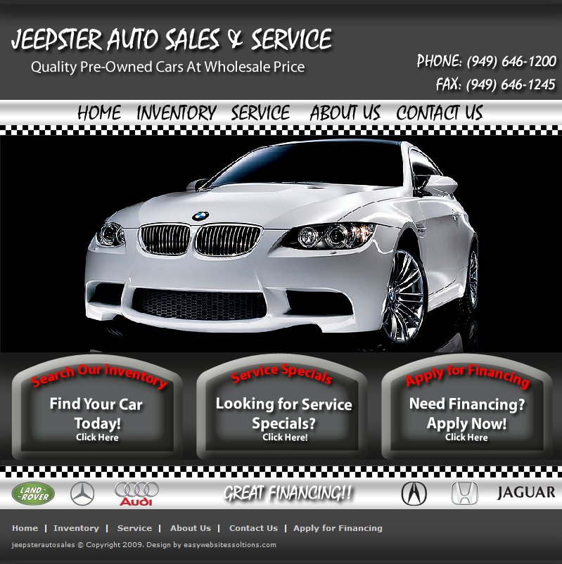 Jeepster Auto Sale - Easy Websites Solutions