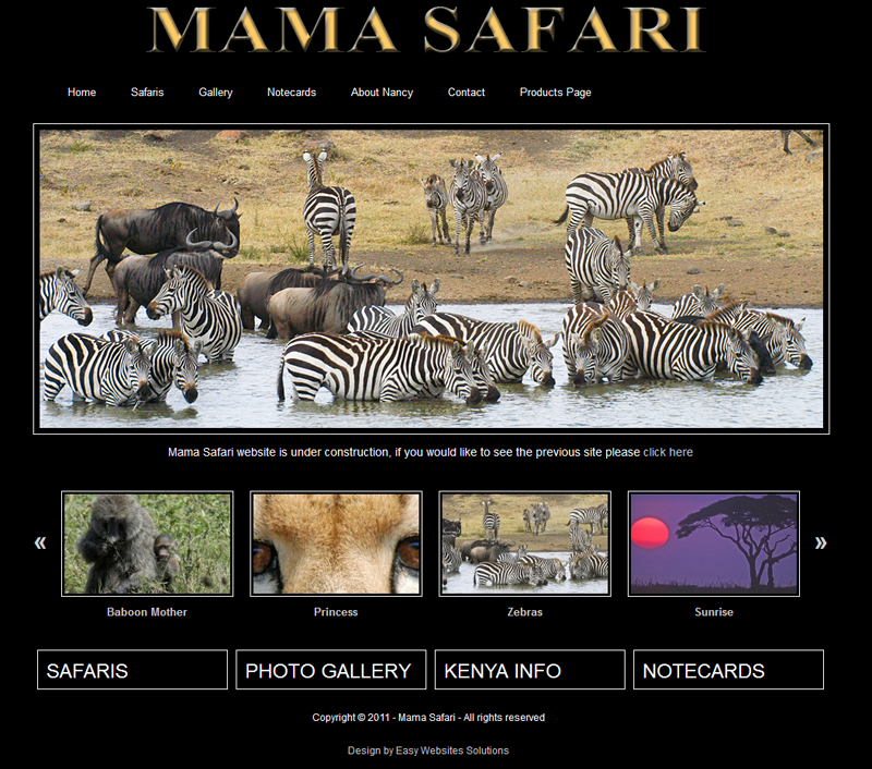 Mama Safari - Easy Websites Solutions