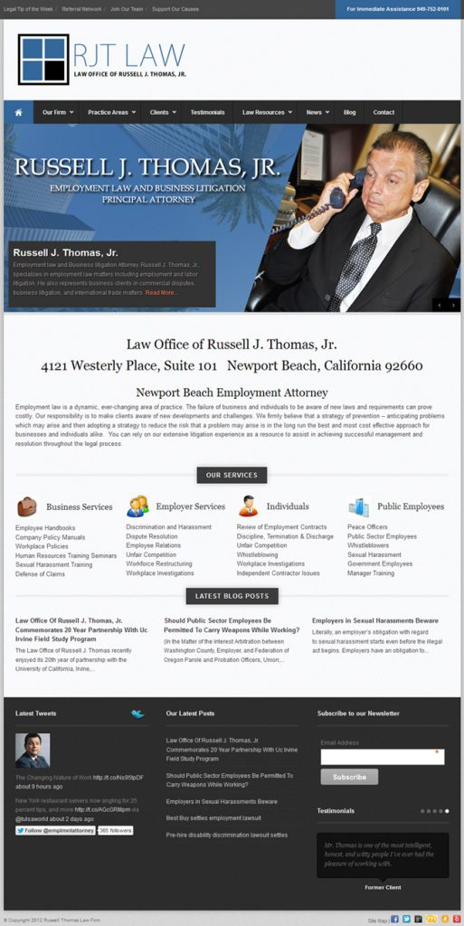 Newport Beach Employment Attorney - Easy Websites Solutions