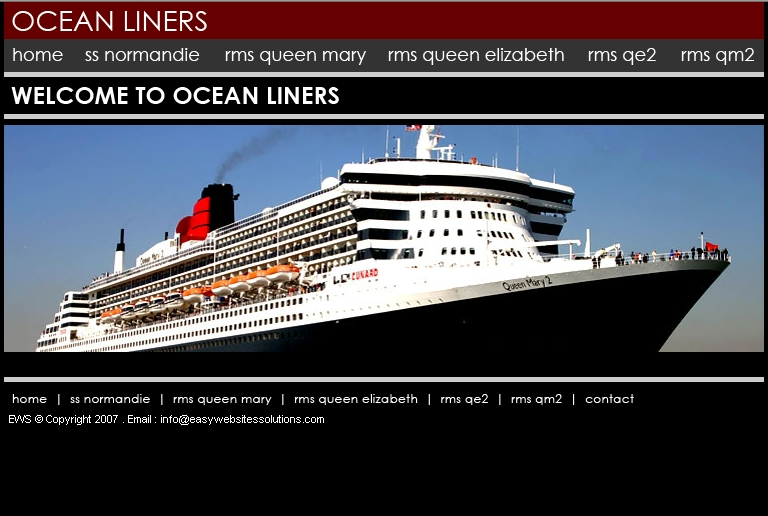 Ocean Liners - Easy Websites Solutions