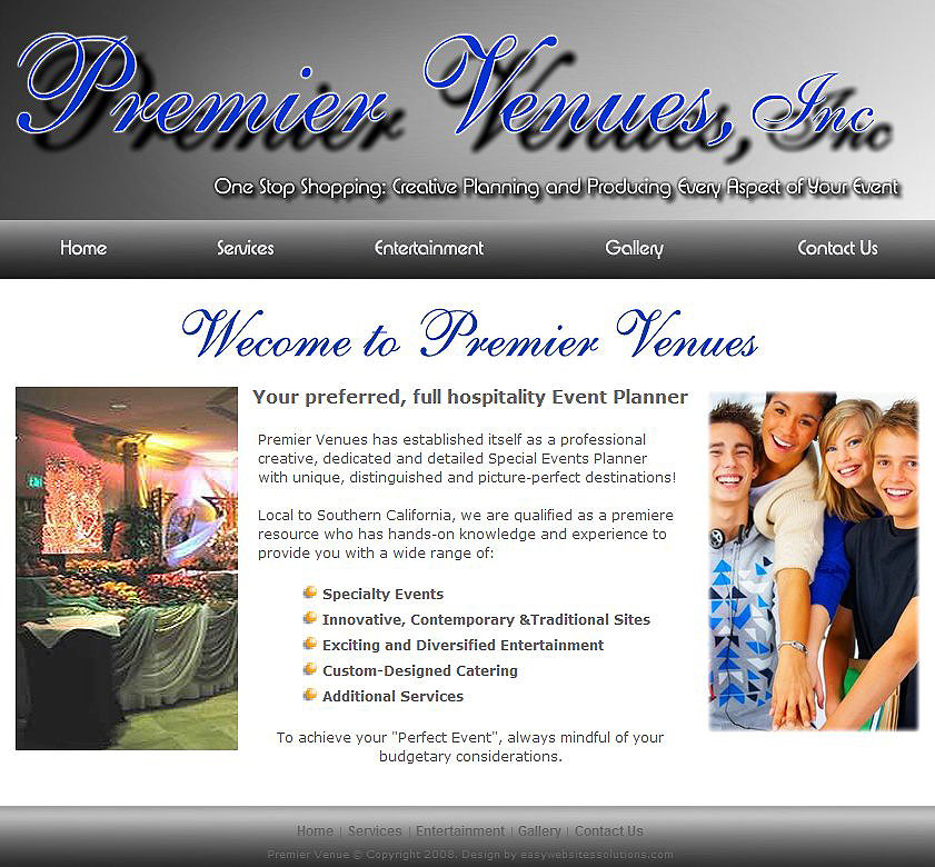 Premier Venues - Easy Websites Solutions