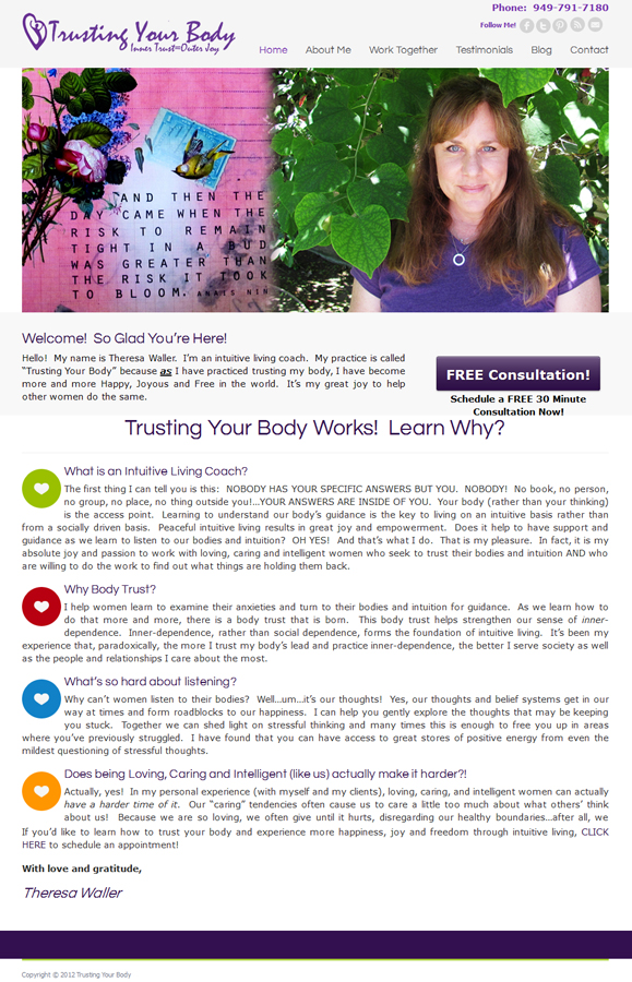 Trusting Your Body - Easy Websites Solutions